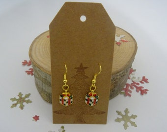 Christmas present earrings, festive jewellery, stocking filler, gift for her,
