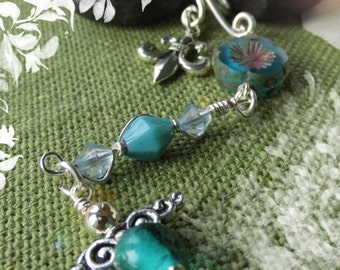 """Key ring """"small guardian angel"""" Turquoise"""