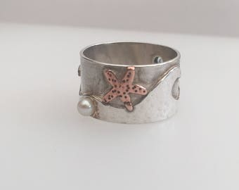 Sterling Silver 'Seaside' ring