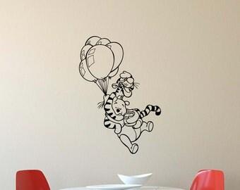 Winnie The Pooh Wall Art winnie the pooh wall decal | etsy uk