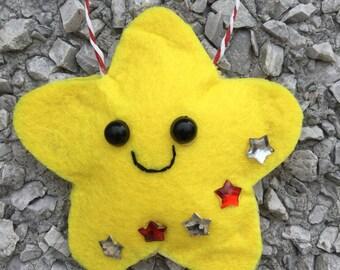 Christmas ornament shining star