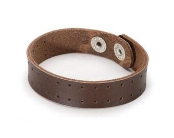 Bracelet en cuir - marron