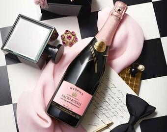 Personalized Champagne Labels (Wedding Gift)
