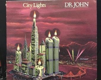 ON SALE Vintage 1978 Dr John City Lights Vinyl Record Excellent Condition