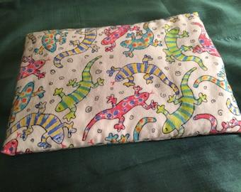 Colorful Geckos Corn Pack, Microwavable Heat Pack, Heating Pad