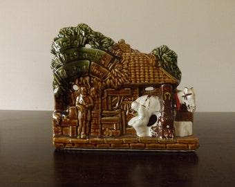 Vintage McCoy Pottery Planter Under The Spreading Chestnut Tree Horse Blacksmith