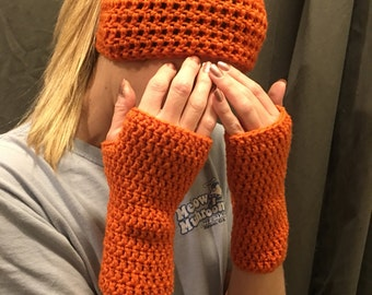 Beanie & Fingerless Glove Set