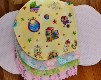 5 Flannel Burp Cloths