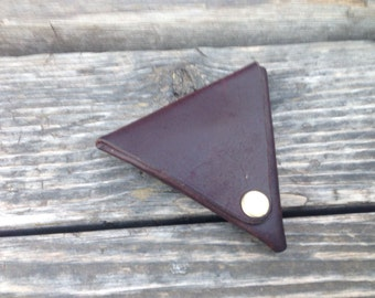 Purse leather to save coins, headphones, small objects, made with high quality leather