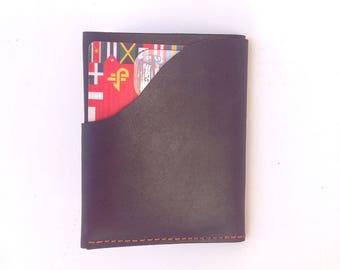 Gift for men, leather wallet, slim wallet, leather wallet card holder, man wallet, small men walle