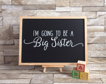 Big Sister Announcement Chalkboard