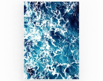 Ocean print beach wall art beach print ocean wall art blue water print beach decor sea art coastal blue decor sea print ocean poster water