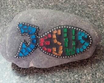 Religious garden stone