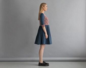 Loose dress for women - Wool dress women - Fall dress - Women dress casual - Loose dress midi - Romantic dress - Stylish dress women