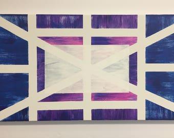 Geometric Striped Painting   kayohdesign