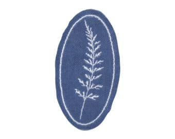 Fern Cyanotype Embroidered Patch