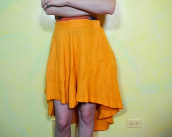 1990s Asymmetrical Flowy Skirt