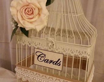 Bird Cage Card Holder Wedding Decor  Card Container  Wedding Money Holder