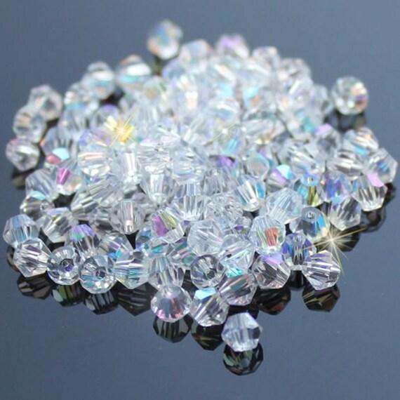 10 pcs Crystal Bicone Beads  4 mm