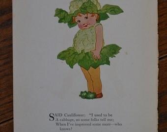 Vintage Print: Cauliflower & Mustard