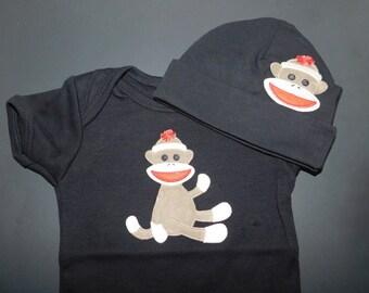 MONKEY BABY onesie and hat set