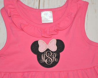 Minnie Monogram Dress- Portion of sales donated to Cure SMA