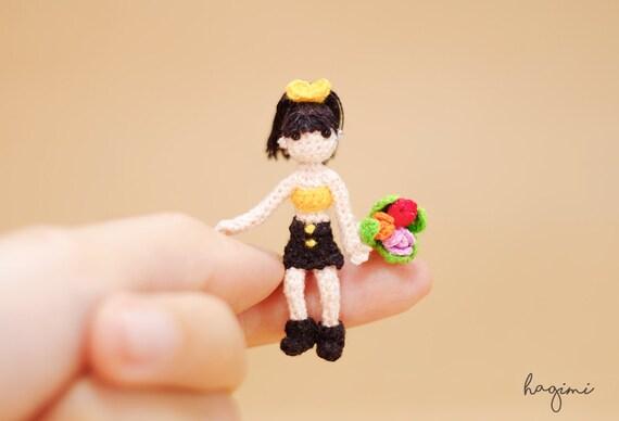 Amigurumi Small Doll : Tiny Doll Amigurumi doll Miniature crochet doll