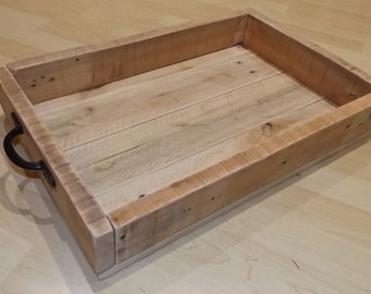 Rustic Breakfast Serving Tray, Breakfast Tray, Pallet Wood Serving Tray, Wooden Tray, Reclaimed wood