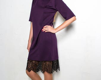 Violet Dress with lace