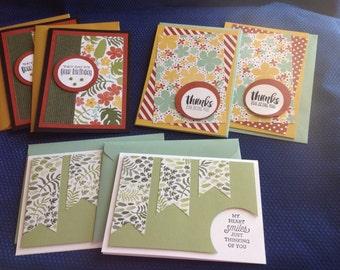 Stampin Up Greeting cards (set of 6)