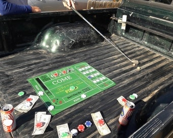 Truck Bed Craps layout Roll-Out mat