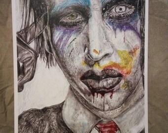 Marilyn Manson my art work PRINT