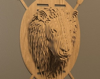 Lion head 3D puzzle-animals ,CNC ,decoration,decorative ,art ,head ,interior,souvenir,toy ,trophy ,wall ,wood, woodenvector graphic,laser