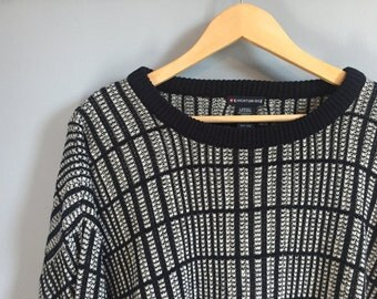 Monochrome Vintage Grandpa Sweater