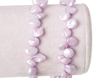 1 Strand (Approx 67 PCs) Freshwater Cultured Pearl Loose Beads Mauve