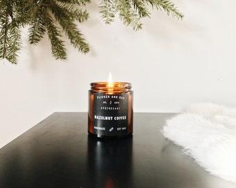 Hazelnut Coffee Soy Candle | 4 oz Amber Jar | Handmade with Natural Soy Wax