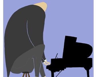 Pianist - Digital Print