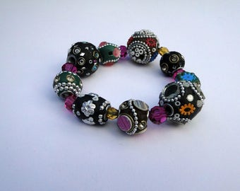 Kashmiri coloured beads bracelet