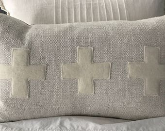 Tree Swiss Cross Throw Pillow