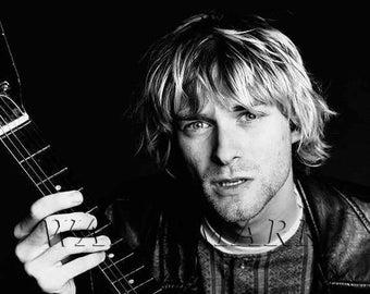 Nirvana, Nirvana Concert Poster, Nirvana Art, Nirvana Poster, Nirvana Print, Kurt Cobain, Kurt Cobain Wall Art, 8x10, 11x14, 16x20 (JS00889)