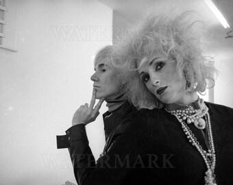 Andy Warhol and Candy Darling - Andy Warhol Poster - Andy Warhol Print - Warhol - 8x10 - 11x14 - 16x20 - (TD0013)