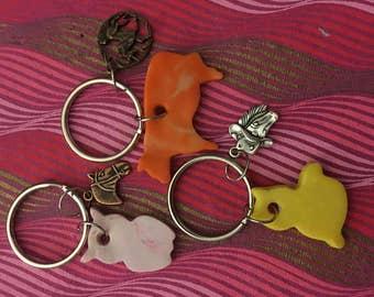 Set of Three Key Chains