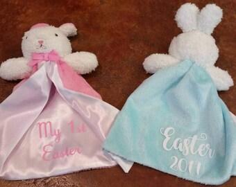 Personalized Bunny Minky Blanket