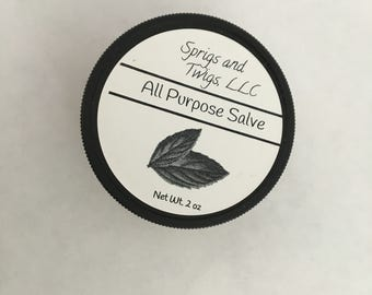 Salve - 2 oz All Purpose - Natural - Organic - Herbal -
