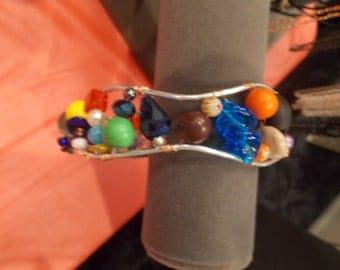 Aluminum Multicolored Bead Bracelet