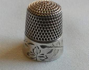 Vintage Sterling Silver Thimble.