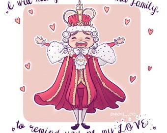 """King George (Hamilton Musical) 8""""x10"""" Print."""