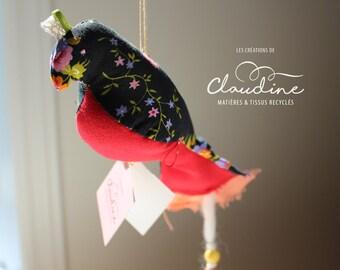 Fabric bird to suspend