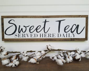 Sweet Tea Sign - Kitchen Signs - Dining Room Signs - Kitchen Decor - Fixer Upper