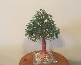 Bead Bonsai Orange tree.
